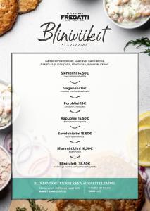 Bliniviikot - Ravintola Fregatti